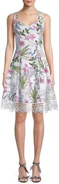 Donna Ricco Women's Floral Fit & Flare Dress