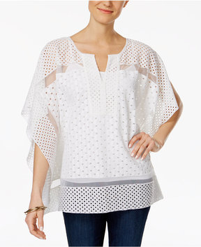 Charter Club Crochet Mesh Top, Created for Macy's