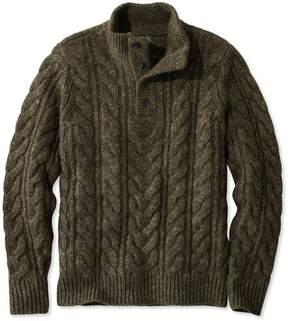 L.L. Bean L.L.Bean Signature Mapleton Sweater, Stand Collar Henley