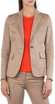 Akris Punto Stretch-Cotton One-Button Jacket
