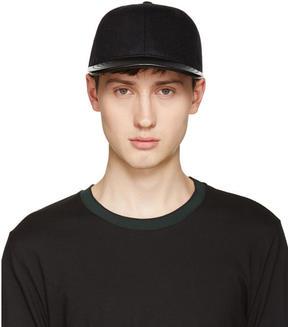 Rag & Bone Black Wool and Leather Cap