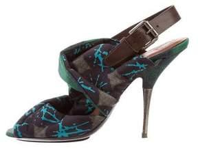 Dries Van Noten Woven Abstract Sandals