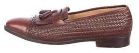 Salvatore Ferragamo Leather Kiltie Loafers