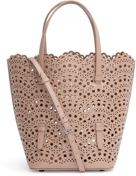 Alaia Light beige laser cut tote bag