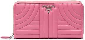 Prada pink quilted leather wallet