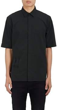 Helmut Lang Men's Tab-Detailed Cotton Poplin Shirt