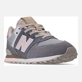 New Balance Girls' Grade School 574 Casual Shoes