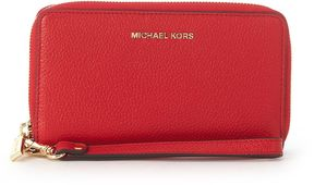 Michael Kors Mercer Red Tumble Leather Wallet - ROSSO - STYLE
