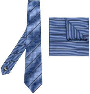 Armani Collezioni striped tie and pocket square