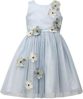 Jayne Copeland Flower-Accent Mesh Dress, Toddler Girls (2T-5T)