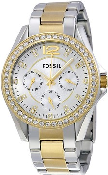 Fossil Riley Multi-Function Two-tone Ladies Watch