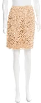 Cynthia Steffe Embroidered Knee-Length Skirt