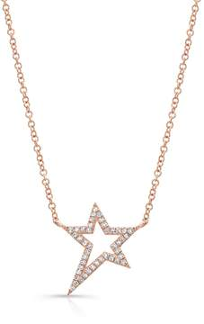 Anne Sisteron Rose Gold Diamond Bowie Rockstar Necklace