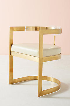 Anthropologie Oscarine Lucite Dining Chair