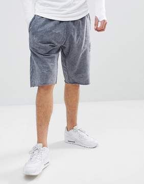 Religion Tapered Jersey Shorts With Acid Wash