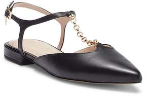 Nanette Lepore NANETTE Angelina Leather Ankle Strap Flat