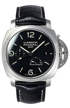 Panerai Luminor Stainless Steel / Leather Automatic 44mm Mens Watch