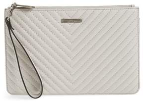 Rebecca Minkoff Leather Wristlet - GREY - STYLE