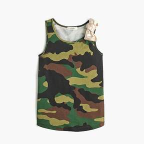 J.Crew Girls' camo tank top with bow