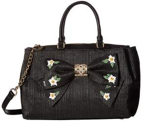 Betsey Johnson Daisy'd Confused Bow Satchel Satchel Handbags