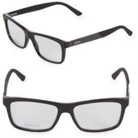 Gucci 51MM Rectangular Optical Glasses