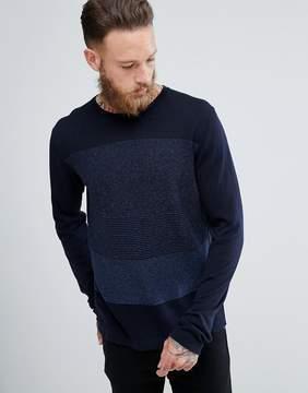 MANGO Man Gradient Sweater In Navy