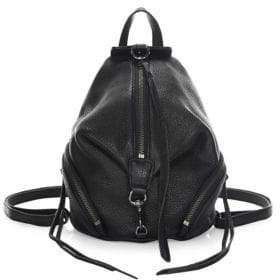 Rebecca Minkoff Julian Leather Convertible Mini Backpack - BLACK - STYLE