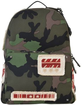 Valentino Camouflage Backpack With Patch