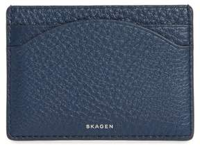 Skagen Women's Leather Card Case - Blue