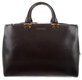 Emporio Armani Black Leather Satchel