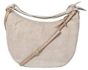 Borbonese Women's Grey Suede Shoulder Bag.