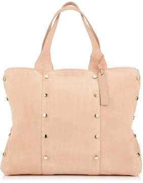 Jimmy Choo LOCKETT SHOPPER Ballet Pink Suede Tote Bag
