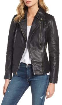 GUESS Women's Leather Moto Jacket