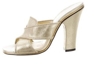 Marc Jacobs Metallic Crossover Sandals