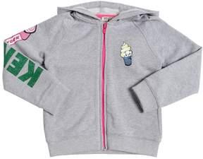 Kenzo Hooded Zip-Up Logo Cotton Sweatshirt