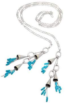 Coomi Vitality Beaded Turquoise Tassel Lariat Necklace