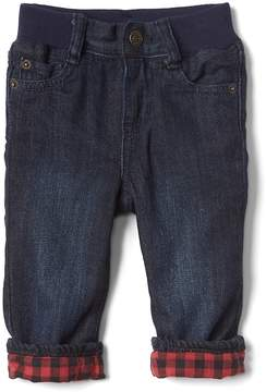 Gap My first flannel-lined straight jeans