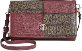 Giani Bernini Block Signature Patchwork Crossbody Wallet, Created for Macy's