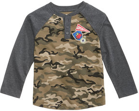 Epic Threads Camo-Print Henley, Toddler Boys (2T-5T), Created for Macy's
