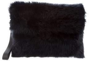 Brunello Cucinelli Fur Oversize Wristlet w/ Tags