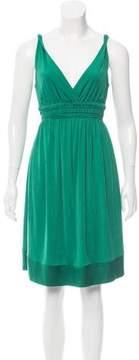 Strenesse Silk-Trimmed Knee-Length Dress