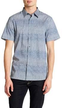 Perry Ellis Slim Fit Short Sleeve Scribble Print Shirt