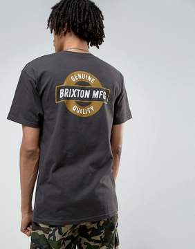 Brixton Newell T-Shirt With Back Print