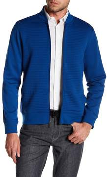 Perry Ellis Long Sleeve Quilted Panel Zip Up Jacket