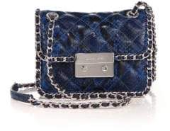 MICHAEL Michael Kors Carine Medium Quilted Snake-Embossed Leather Shoulder Bag
