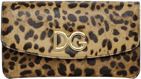 Dolce & Gabbana Brown Leopard Continental Wallet - BROWN - STYLE