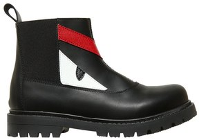 Fendi Monster Nappa Leather Ankle Boots