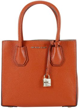 MICHAEL Michael Kors Handbag Mercer Medium Shopping Leather Bag - ORANGE - STYLE