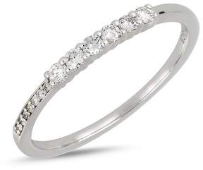 Bony Levy 18K White Gold Graduated Diamond Stackable Ring