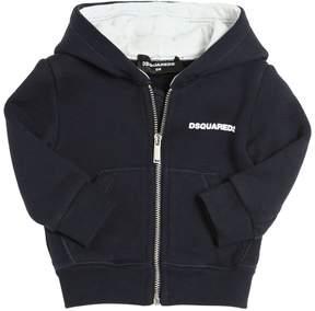 DSQUARED2 Logo Detail Hooded Cotton Sweatshirt